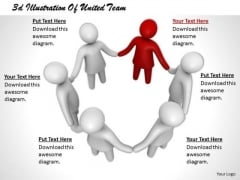 Business Planning Strategy 3d Illustration Of United Team Concept Statement