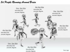 Business Planning Strategy 3d People Running Around Brain Character