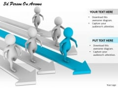 Business Planning Strategy 3d Person Arrows Character Models