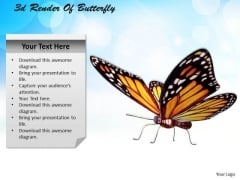 Business Planning Strategy 3d Render Of Butterfly Characters