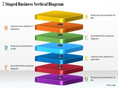 Business Planning Strategy 7 Staged Vertical Diagram Marketing