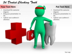 Business Policy And Strategy 3d Dentist Checking Tooth Characters