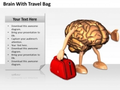 Business Policy And Strategy Brain With Travel Bag Stock Photos