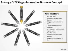 Business Power Point Analogy Of 9 Stages Innovative Concept Ppt PowerPoint Templates