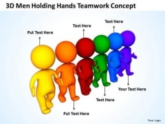 Business Power Point Holding Hands Teamwork Concept PowerPoint Templates Ppt Backgrounds For Slides