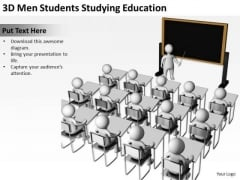 Business PowerPoint Examples 3d Men Students Studying Education Templates