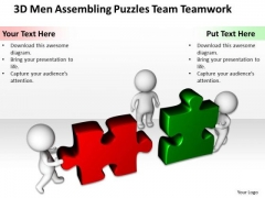 Business PowerPoint Examples Puzzles Team Teamwork Templates Ppt Backgrounds For Slides