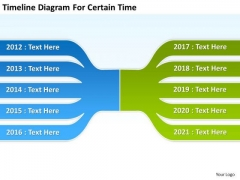 Business PowerPoint Presentation Diagram For Certain Time Templates