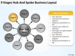 Business PowerPoint Presentation Layout Writing Plan Slides