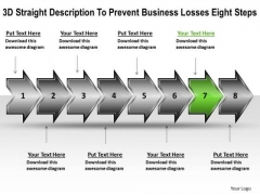 Business PowerPoint Presentation Losses Eight Steps Flowcharting Tools Templates