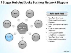 Business PowerPoint Presentation Network Diagram Web Design Plan Slides