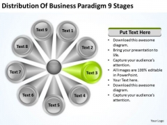Business PowerPoint Presentation Paradigm 9 Stages Plan Templates
