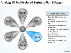 Business PowerPoint Presentations Plan 6 Stages Slides