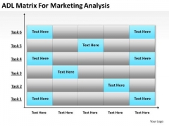 Business PowerPoint Template Adl Matrix For Marketing Analysis Ppt Templates