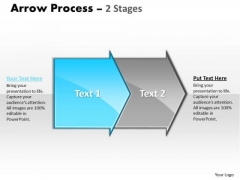 Business PowerPoint Template Arrow Process 2 Stages Strategy Ppt Graphic