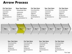 Business PowerPoint Template Arrow Process 9 Stages Strategy Graphic
