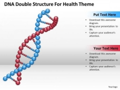 Business PowerPoint Template Dna Double Structure For Health Theme Ppt Templates