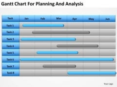 Business PowerPoint Template Gantt Chart For Planning And Analysis Ppt Templates
