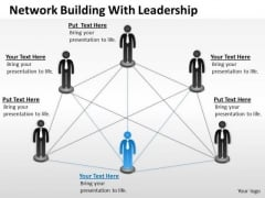 Business PowerPoint Template Network Building With Leadership Ppt Templates