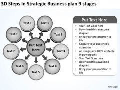 Business PowerPoint Templates Download Plan 9 Stages Cycle Spoke Chart Slides