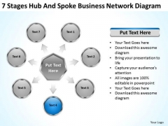 Business PowerPoint Templates Network Diagram Plan Consulting Slides