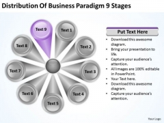 Business PowerPoint Templates Paradigm 9 Stages Ppt Writing Plan Slides