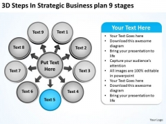 Business PowerPoint Templates Plan 9 Stages Circular Layout Network