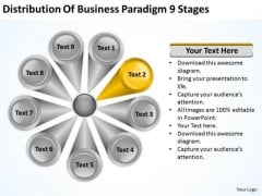 Business PowerPoint Theme Paradigm 9 Stages Your Plan Slides