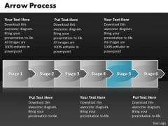 Business Ppt Arrow Process 6 Stages Time Management PowerPoint Graphic