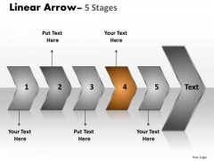 Business Ppt Sequential Representation Of 5 Steps Using Arrows Design