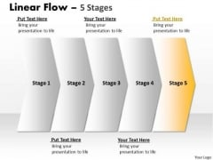 Business Ppt Theme Steady Description Of 5 Steps Working With Slide Numbers 6 Image