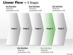 Business Ppt Theme Steady Description Of 5 Steps Working With Slide Numbers Image