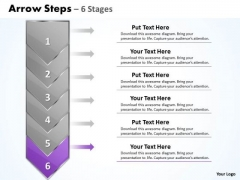 Business Ppt Vertical Stages Illustrated Through Arrow Plan PowerPoint 7 Graphic