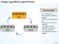 Business Process Diagram Chart 3 Stages Lego Blocks Logical Ppt 1 PowerPoint Templates
