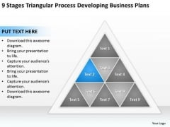 Business Process Diagram Chart Triangular Developing Plans Ppt PowerPoint Slide