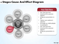 Business Process Diagram Vision 6 Stages Cause And Effect Ppt PowerPoint Templates