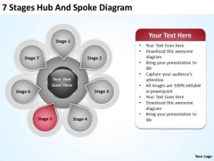 Business Process Diagram Vision Spoke Ppt PowerPoint Templates Backgrounds For Slides