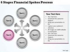 Business Process Diagrams 6 Stages Financial Spokes Ppt PowerPoint Template