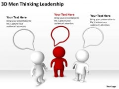 Business Process Diagrams Examples 3d Men Thinking Leadership PowerPoint Slides