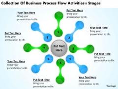 Business Process Flow Activities 8 Stages Non Profit Plan PowerPoint Slides