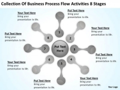 Business Process Flow Activities 8 Stages Ppt Plan PowerPoint Templates