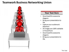 Business Process Flow Chart Networking Union PowerPoint Templates Ppt Backgrounds For Slides