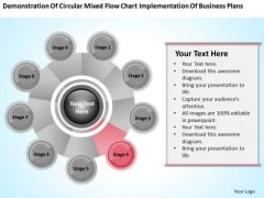 Business Process Flow Diagram Chart Implementation Plans Ppt PowerPoint Slide