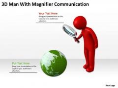 Business Process Flow Diagram Communication PowerPoint Templates Ppt Backgrounds For Slides