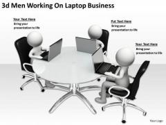 Business Process Flow Diagram Examples Laptop Free PowerPoint Templates Slides