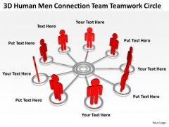Business Process Flow Team Teamwork Circle PowerPoint Templates Ppt Backgrounds For Slides