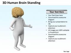 Business Process Flowchart 3d Human Brain Standing PowerPoint Templates