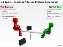 Business Process Flowchart Download People On Seesaw Briefcase Businessman PowerPoint Slides
