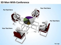 Business Process Flowchart Examples 3d Men With Conference PowerPoint Templates
