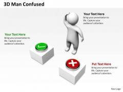 Business Process Management Diagram 3d Confused PowerPoint Slides